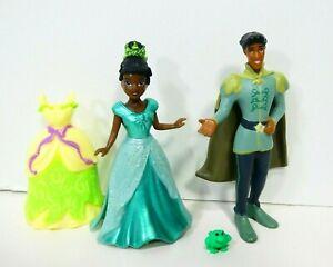 Disney-TIANA-magiclip-polly-doll-PRINCE-NAVEEN-Figure-Princess-amp-the-Frog-Set