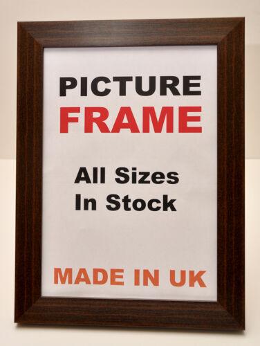 Grand Acajou Marron photo cadre photo 40 mm large dans toutes les tailles Cadre Photo
