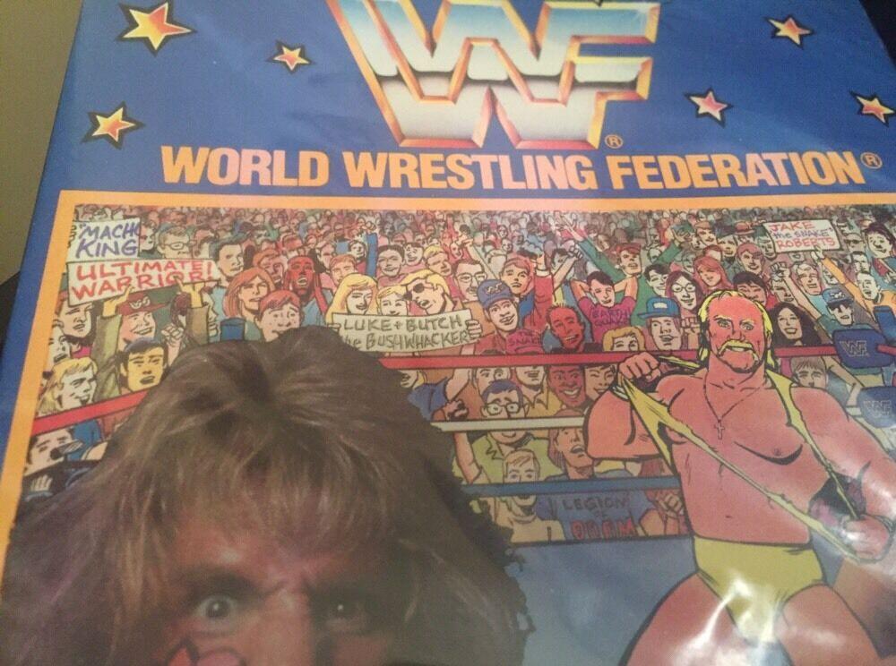 WWF(World Wrestling Wrestling Wrestling Federation) colorforms(Travel Pak)Hulk Hogan 4e7380