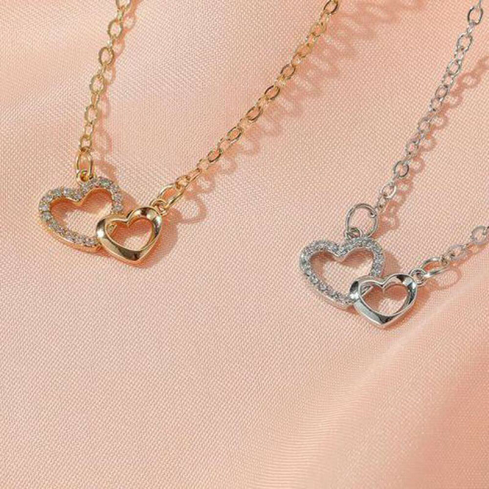 Silver Color Gold Color Clavicle Chain Pendants Jewelry Necklace Heart Necklace