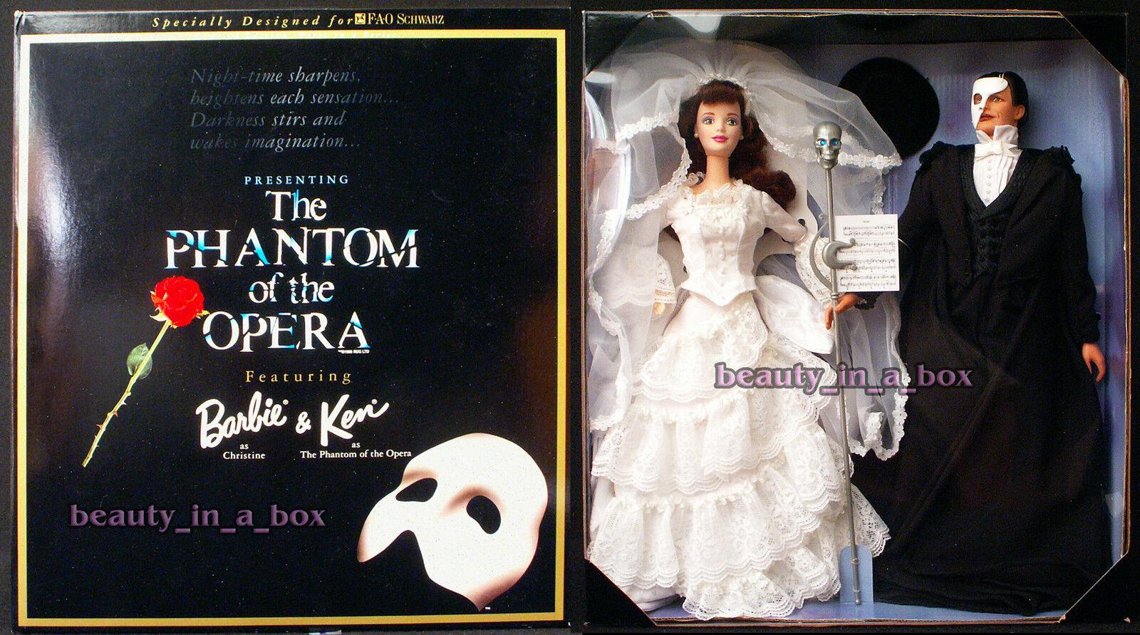 El fantasma de la ópera Barbie y Ken Muñeca juntos Giftset G