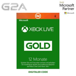 Xbox Live Gold Mitgliedschaft 12 Monate Card für Xbox 360/One Code- 12 Month Key