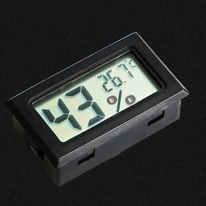 Temperature-Display-Meter-Black-Gauge-Mini-Humidity-Thermometer-Hygrometer-LCD