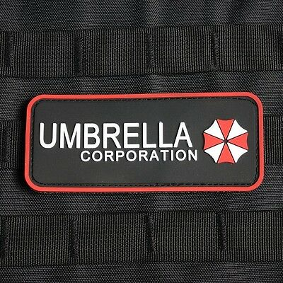 Resident Evil Umbrella Corporation Logo Chest tab 3D PVC  Patch PB003