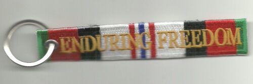 ENDURING FREEDOM VETERAN Embroidered Keychain Key Chain