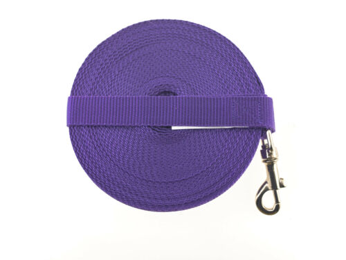 40ft Long Dog and Horse Training Lunge Lead Webbing With D-Ring in Handle