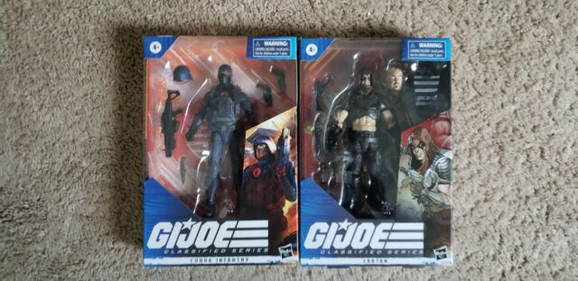 Hasbro G.I. Joe Classified Series Cobra Infantry and Zartan