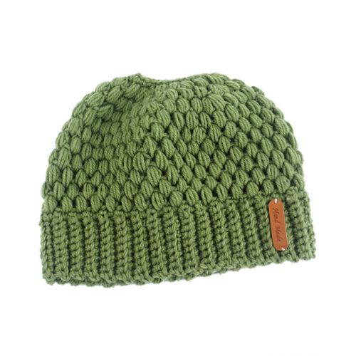 Women Ponytail Beanie Hat Bun Stretch Knitted Cap Warm Hats Winter Fashion UUXJ