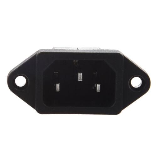 IEC 320 C14 Male Plug 3 Pins PCB Panel Power Inlet Socket Connector E7M7 3X N9