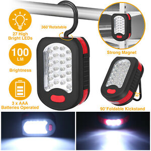 27 LED Work Light With Magnet And Hook Safety Camping Hunting Flashlight Khaki