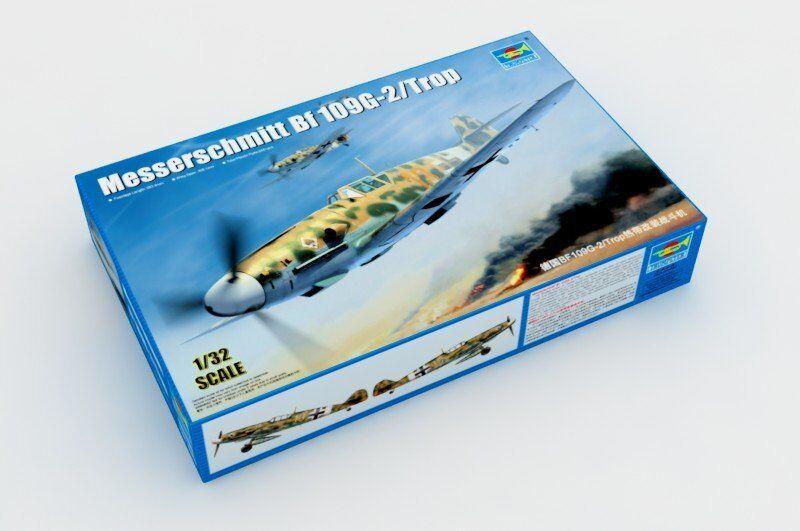 Trumpeter 02295 1 32 Germany Messerschmitt BF-109G-2 Trop Fighter Kit Aircraft