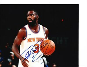 dcb56d9566c NEW YORK KNICKS TIM HARDAWAY JR SIGNED WHITE JERSEY 8X10 | eBay