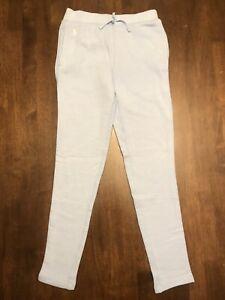 POLO-RALPH-LAUREN-MEDIUM-8-10-Girls-Light-Blue-Sweatpants-NEW-Retail-39-50