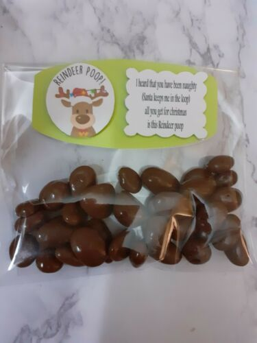 HANDMADE Christmas Naughty Reindeer poop secret santa sweet gift stocking filler