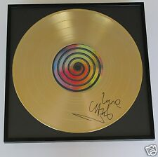Chris Martin , Coldplay  CD + Deko goldene Schallplatte + Autogramm /Autograph
