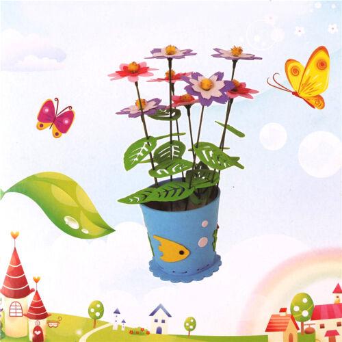 Handmade EVA Flower Pot Toys Kids DIY Craft Kits Creative Early Educational t Ea