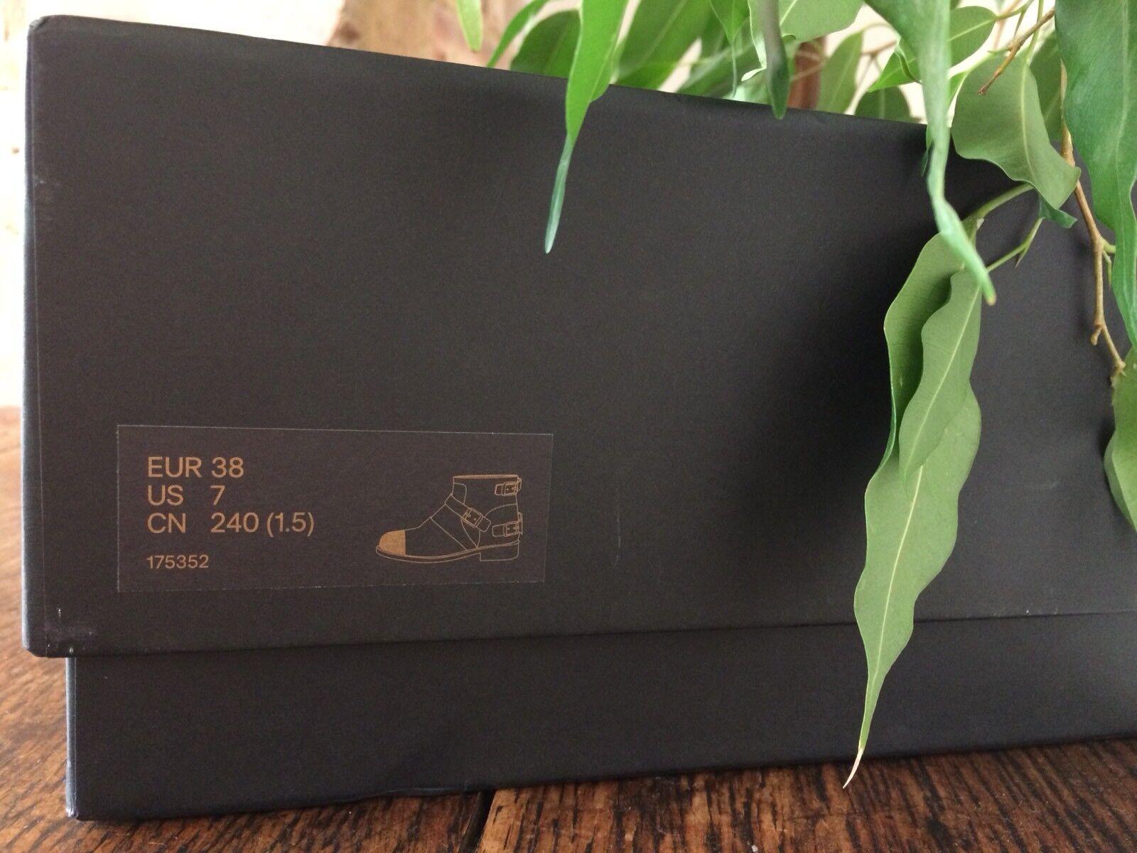 Nuevos limitado zapatos para hombres y mujeres, descuento por tiempo limitado Nuevos Balmain X H&M Negro Y Dorado Puntera Botas De Gamuza bc06f0