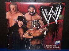 WWE Superstars 2009 Mead 16 Month Calendar WWF ECW Undertaker Cena Mysterio[309]