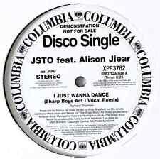 "JSTO FT ALISON JIEAR - I Just Wanna Dance (Sharp Boys Remixes) (12"") (Promo)"
