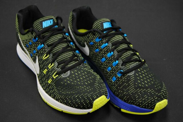 new concept 35a37 d16e9 [806580 010] NEW MEN'S NIKE AIR ZOOM STRUCTURE 19 BLACK PURE PLATINUM VOLT  BLUE