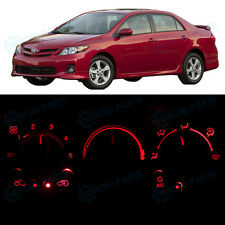 Full Kit AC Heater Control Red LED Lights for 2009-2012 Toyota Corolla NO LCD