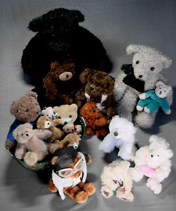 Collection d'ours (nounours) 17 pièces Unchecked Inkl. Baignoire à ours ovale longueur 33cm