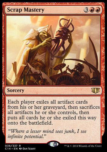 Sorcery Rare SCRAP MASTERY NM mtg Commander 2014 Red