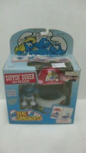 The-Smurfs-Dippin-039-Diner-With-Figure-Fun-Playset-From-Toy-Island-1996-NEW-t1209