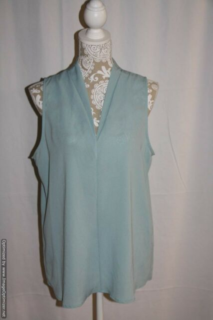 5639a897a3bda NWD Pleione Sleeveless Scoop Neck Pale Aqua Blue Top Size M Nordstrom
