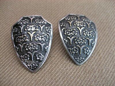 "Gold Metal// Rhinestones COWBOY BOOT// Spur Shank Back Ornamental Button 1/"" NOS"
