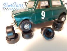 8 pneus URETHANE  Austin   front wheels drive SCALEXTRIC