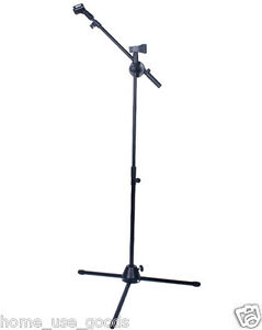High-Quality-Professional-Black-Boom-Microphone-Mic-Stand-Band-Two-Clips