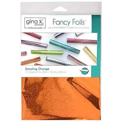 """Gina K Designs Fancy Foil 6""""x8"""" 12/pkg-dazzling Orange Holographic"""