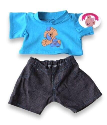 einen machen T und Hallo Shirt kompatibel Teddybär Jeans Plüschkleidung Bär xYn7EUtS