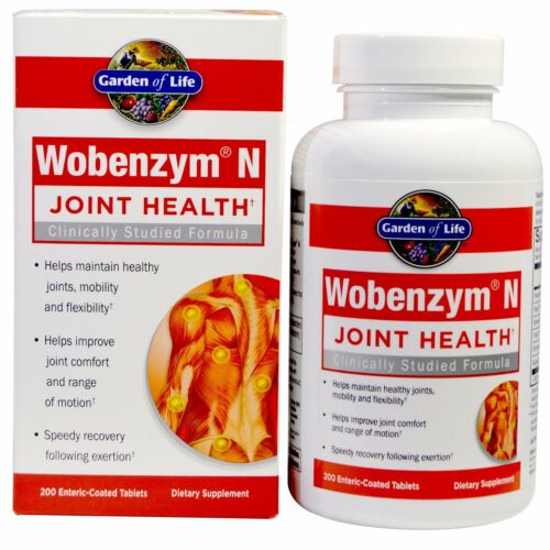 Wobenzym N, Joint Health, Comfort, Flexibility, NEW 200 EntericCoated Tablets