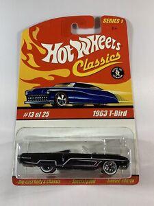 Hot-Wheels-Classics-Series-1-1963-Ford-T-Bird-Thunderbird-Redline