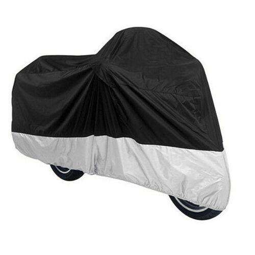 Housse protection imperméable moto Noir Argent 230x95x125cm