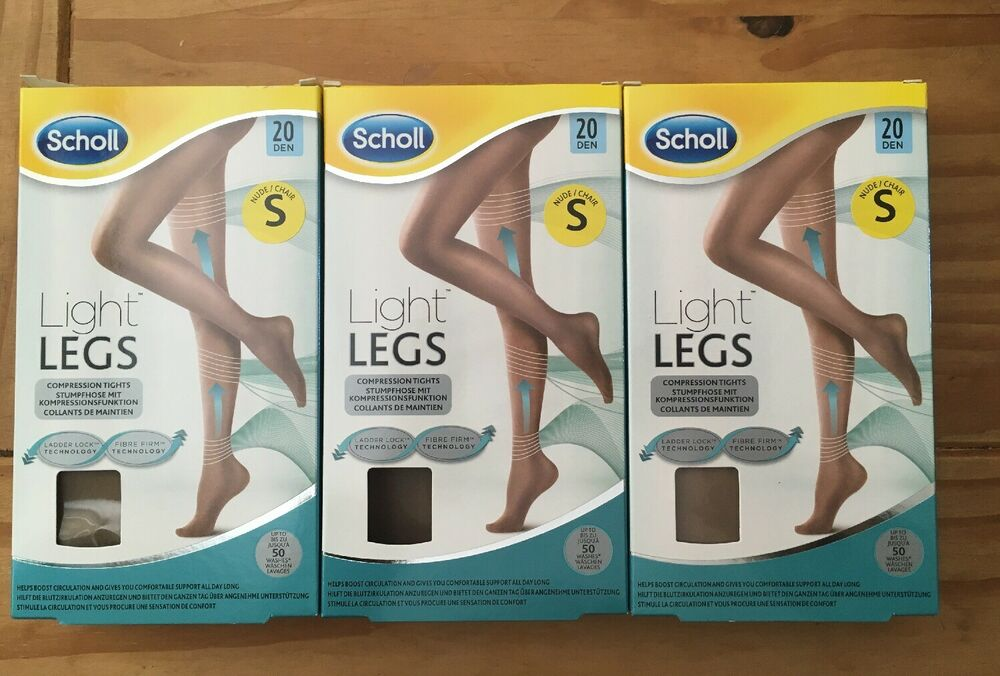 3 X Scholl Nude Compression Collants Taille S S Jambes Légères 20 Deniers Rrp £ 15 Neuf