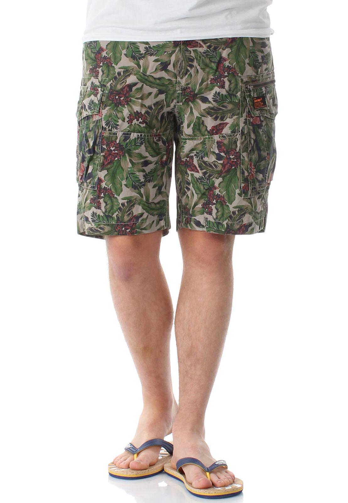 SUPERDRY SHORTS MENS Core lite parachute shorts jungle camo ripstop AOP