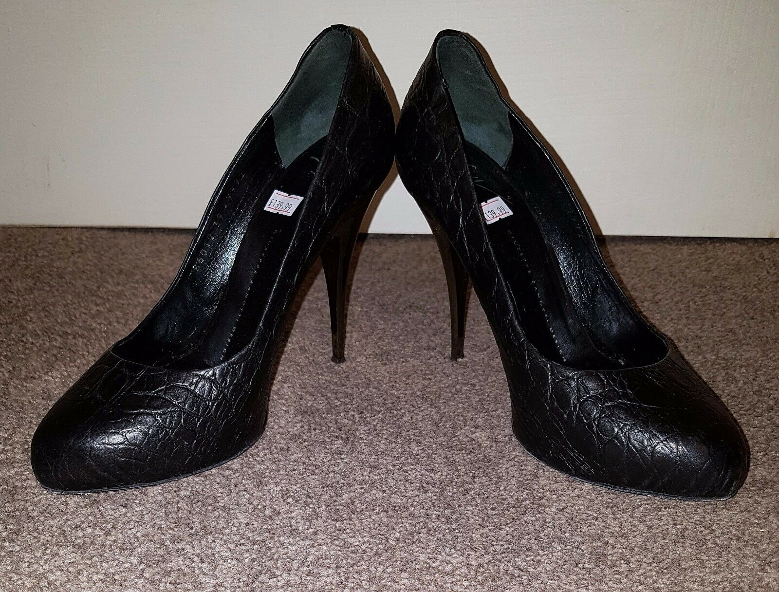Giuseppe Black Black Giuseppe Leather Heels Shoes Women   Ladies Size 6 39 d33bfd
