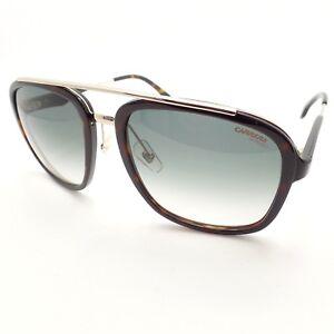 Carrera-133-S-2IK9K-Havana-Gold-Green-Gray-Fade-New-Sunglasses-Authentic