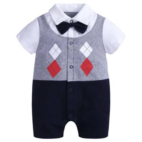 Newborn Infant Kids Baby Boys Girls Romper Jumpsuit Playsuit Outfits Clothes UK