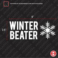 2X WINTER BEATER sticker vinyl car decal white