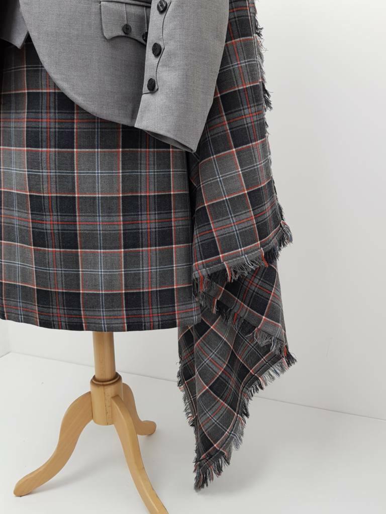 James Watt Tartan 8 Yard 16oz Made to Measure Wool Kilt Free Flashes