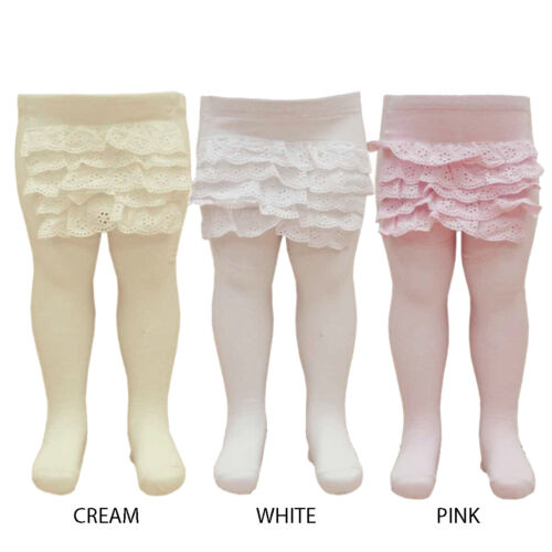 Nursery Time Baby Girls Frilly Tights Toddler Wedding Christening 18-24 Months