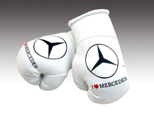 Mercedes Mini Boxhandschuhe Rückansicht Weiße Handschuhe Neu Geschenk