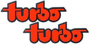 Doppel-Turbo-KFZ-Auto-Relief-3D-Schild-turbo-Emblem-2-x-8-cm-selbstklebend