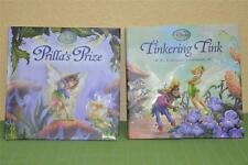 Disney Fairies 2 Embossed Book Set Tinkering Tink Prilla's Prize Tinkerbell New!