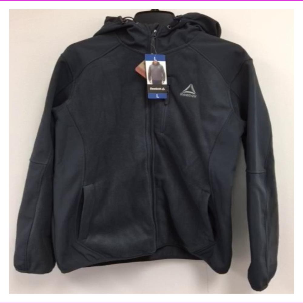 be99c627f Reebok Men's Mixed Media Softshell Jacket
