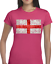 VINTAGE ENGLAND FLAG LADIES T SHIRT ENGLISH PATRIOTIC DESIGN FOOTBALL CRICKET